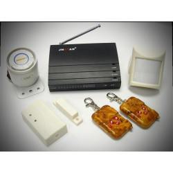 Wireless Home Security System with Built-in Auto Dialer Easy-to-Install