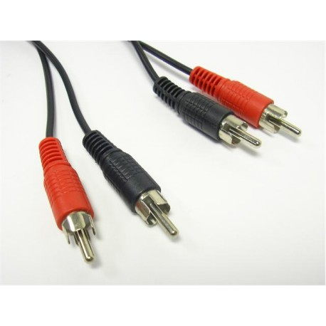 2xRCA plug~ to~2xRCA plug - 5m Patch Cord