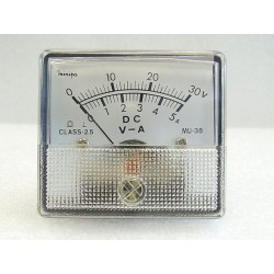 DC Volts & Amps Double Range Panel Meter