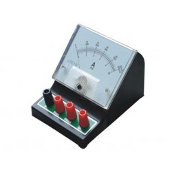 Desk Standalone with Binding Post Connector Student Panel Meter 3-Step 0~50mA,500mA,5A DC-Amps